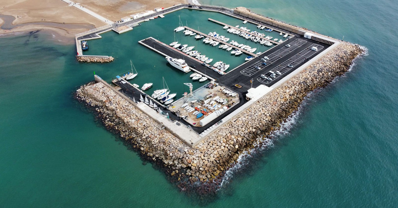 Vista aèria del port